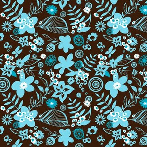 Tropical hibiscus flower pattern 06