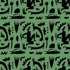 green silouette