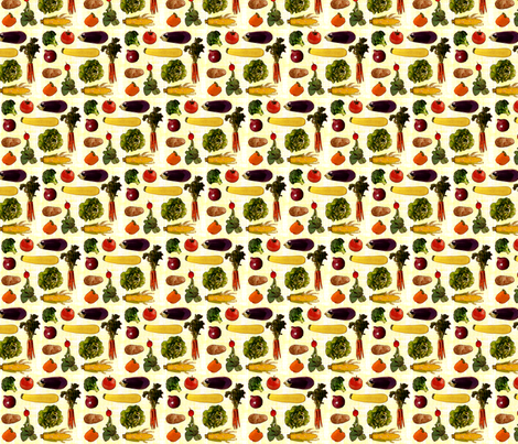 Medium Produce Print fabric by jenfur on Spoonflower - custom fabric