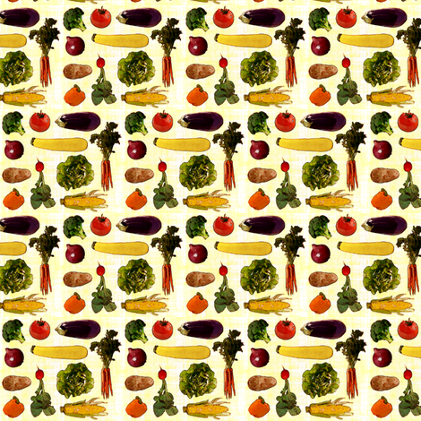 Small Produce Print fabric by jenfur on Spoonflower - custom fabric