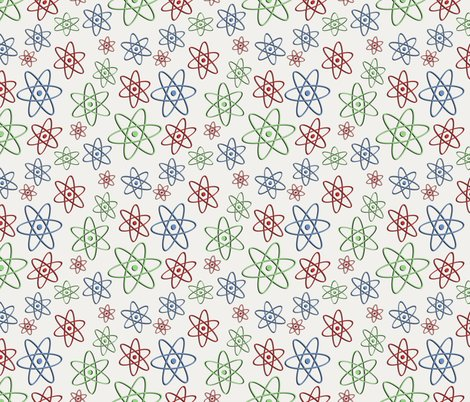 Retro space atom fabric poetryqn spoonflower for Vintage space fabric