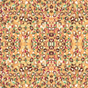A Mirrored Repeat of Paint Dots in acrylics