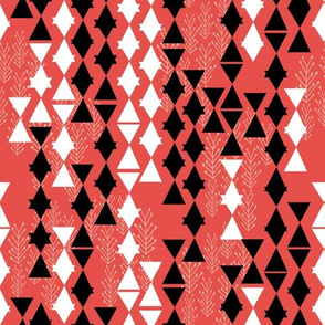 cosmic voyage // triangles fabric