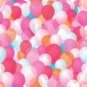 Happy balloons in PINK