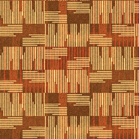Crossings - terracotta, cream, brown