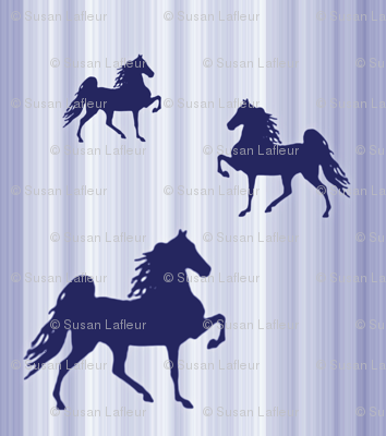 Horses-navy_stripe