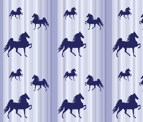 Horses-navy_stripe fabric by mammajamma on Spoonflower - custom fabric