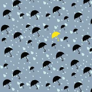 Umbrellas with Yellow