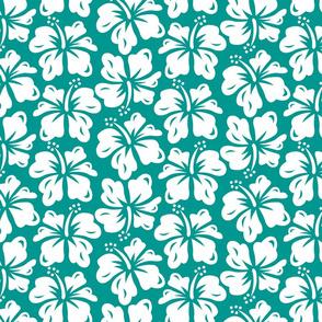 Hibiscus Surf - Teal