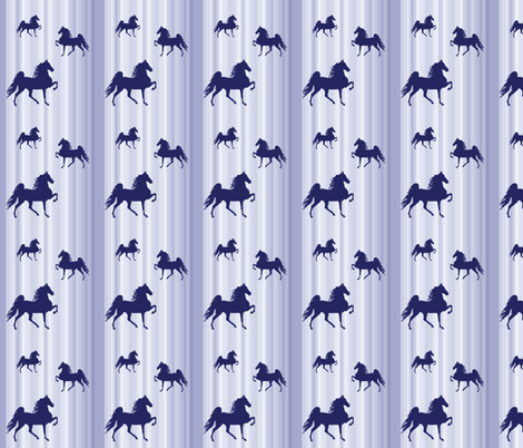 Horses-navy_stripe-smaller fabric by mammajamma on Spoonflower - custom fabric