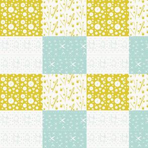 Notions Quilt Mini- haystack ocean-10x9