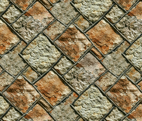 Thirties stone wall