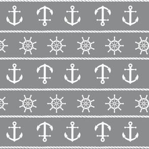 Nautical Anchor On Grey