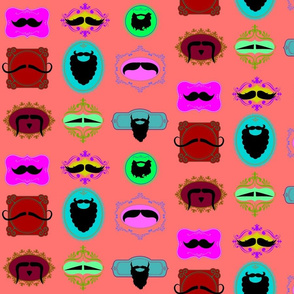 Mustache Portraits on Melon