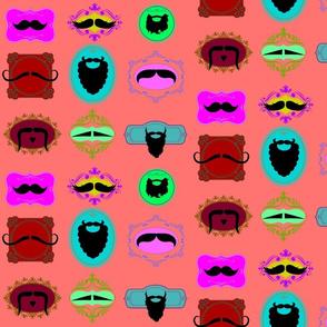 Mustache Portraits on Melon