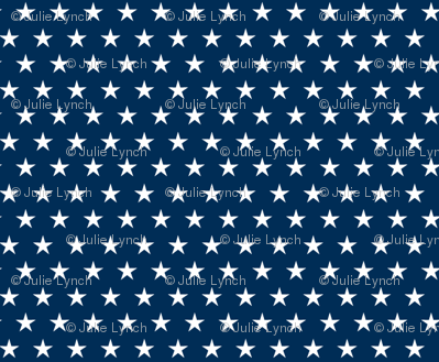 Small stars on navy