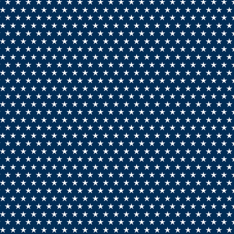 Small stars on navy fabric by cjldesigns on Spoonflower - custom fabric