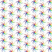 Rainbow flower spirograph
