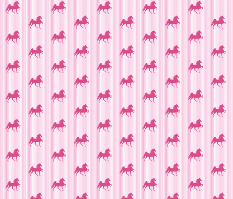 Horses-pink_stripe-for_kids fabric by mammajamma on Spoonflower - custom fabric