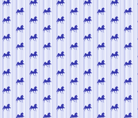 Horses-blue_stripe-for_kids fabric by mammajamma on Spoonflower - custom fabric