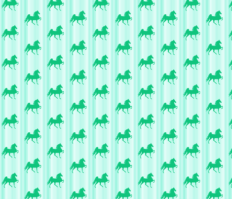 Horses-green_stripe-for_kids fabric by mammajamma on Spoonflower - custom fabric