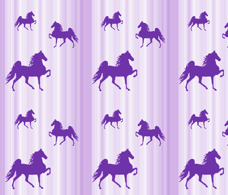 Horses-purple_stripe fabric by mammajamma on Spoonflower - custom fabric