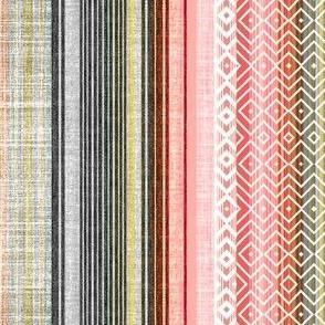 Vintage Linen in shades of Shrimp