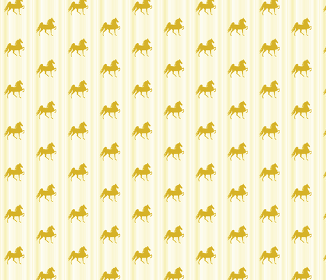 Horses-light_gold_stripe-for_kids fabric by mammajamma on Spoonflower - custom fabric