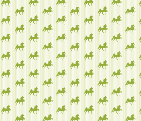 Horses-lime_green_stripe-for_kids fabric by mammajamma on Spoonflower - custom fabric