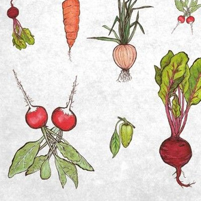 Vibrant Veggies on Paper