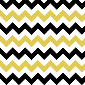 Gold and Black Chevron Stripes
