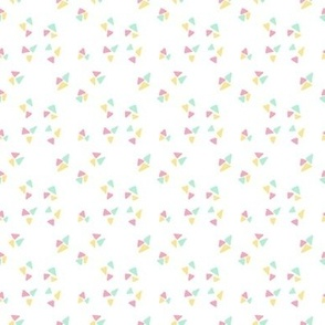 Cute geometric triangles kaleidoscope minimalistic modern pattern