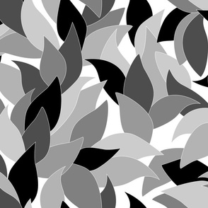 Simple leaves in grey.