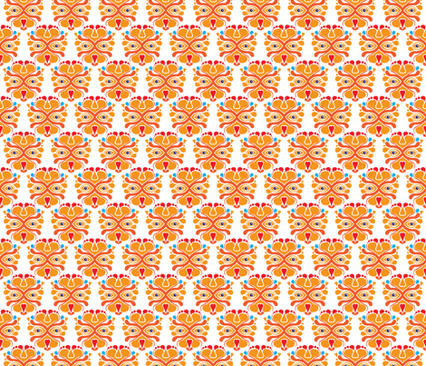 Hup Holland Dutch lion orange sports theme pattern