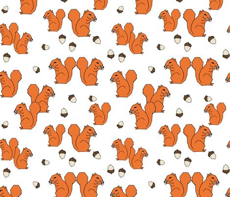 Squirrels - Orange by Andrea Lauren