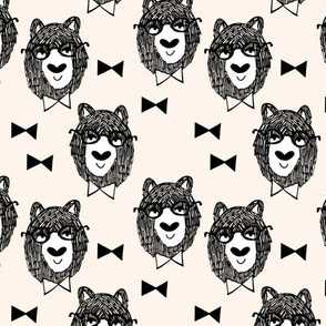 bowtie bear // baby nursery fabric bowties bears fabric andrea lauren design