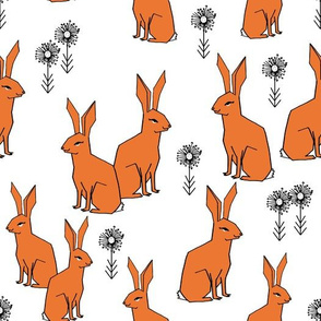 Rabbits - Orange by Andrea Lauren