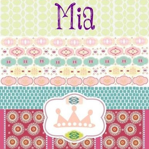 Morocco Quilt - Princess- personalized