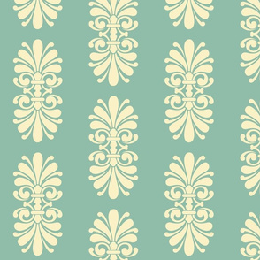 Summer Scroll on Caribbean Sea Green