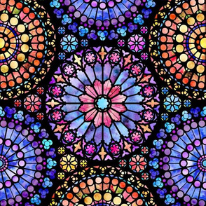 Painted Rose Windows (Multicolored - Medium)