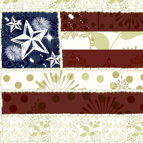 Vintage Flag Quilt - Large