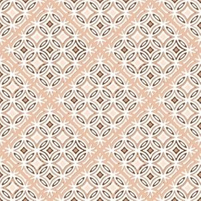Cosmos Meadow lattice in coordinating peach