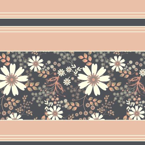 Cosmos Meadow Moonlight Wallpaper border