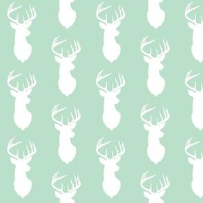deer silhouette in mint