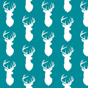 deer silhouette with teal/turquoise background