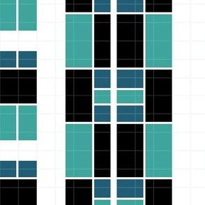 Tartan abstract - Teal01