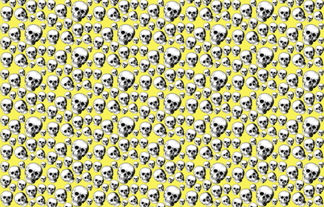 yellow skulls fabric by rockitbaby on Spoonflower - custom fabric