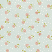 Vintage polka dot shabby chic baby blue floral