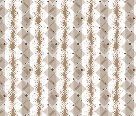 Geometric Alpha - Brown fabric by siya on Spoonflower - custom fabric