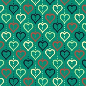 Heart Chain (Summer Farm Green)